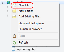 New File menu option